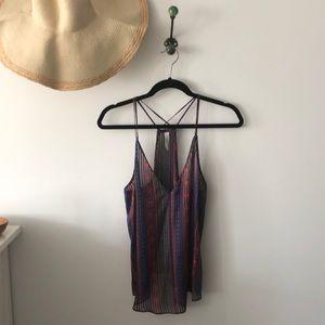 Rory beca silk multicolored camisole